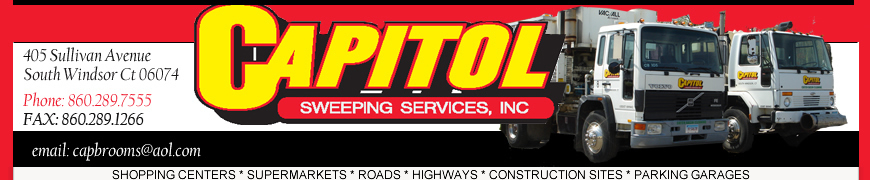 Capitol Sweeping | SHOPPING CENTERS | SUPERMARKETS | ROADS | HIGHWAYS | CONSTRUCTION SITES | PARKING GARAGES